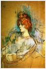 Artist Henri de Toulouse Lautrec Fine Art Poster Print of Painting Femme Assise