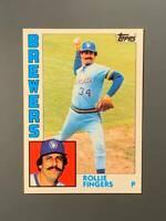 1984 Topps Tiffany #495 Rollie Fingers HOF Milwaukee Brewers