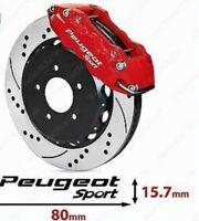 4 Pegatinas sticker aufkleber caliper brake Peugeot Sport pinzas freno 8 cm