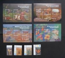Uganda 2002 Flora fauna insects mushrooms flowers SG2399/426 MNH UM unmounted