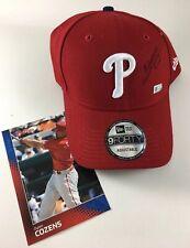 Philadelphia PHILLIES Autographed New Era Hat Cap DYLAN COZENS New NWT + BONUS