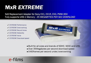 MxR Extreme Expresscard SD card adapter for Sony SxS cameras