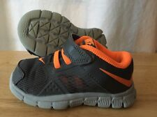 Nike Training Shoes Baby Toddler Size 6C Gray And Neon Orange