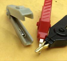 90PCS Large Kelvin Clip Fine Tip copper Gold Plated Alligator clip for LCR Meter