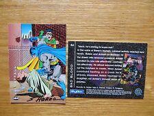 1994 BATMAN SAGA OF THE DARK KNIGHT AZRAEL AGGRESIVE CARD SIGNED SCOTT HANNA,POA