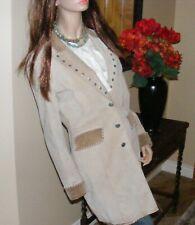 Western Longline Kneecoat JACKET Long Equestrian Coat Suede MARGARET GODFREY
