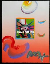 "Peter Max-""Liberty""-Mixed Media Painting on Paper-Art- Prints"