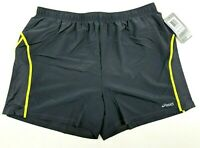 Asics Mens Distance Running Shorts Grey With Drawstring Size XL MS1692-9472