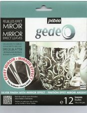 Pebeo Gedeo Mirror Effect Leaf 12 Sheet Pack - Silver Brand New!