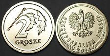 2016 Poland 2 Grosze Coin BU Very Nice KM # 924