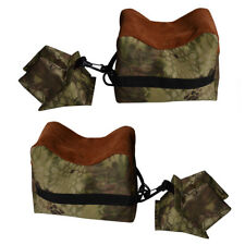 camouflage Shooting Rest Bag Set Front & Rear Rifle Target Hunting Bench Stand