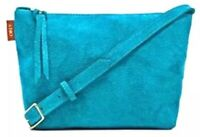 Obey Turquoise Suede Crossbody Bag New With Tags NWT