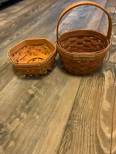 Nice 1991 Longaberger Discovery & 2001 Hexagon Small Baskets For Collectors