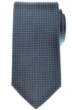 Gucci Tie Silk Woven 57 1/4 x 3 1/4 Blue Brown Geometric 19TI0141 $200