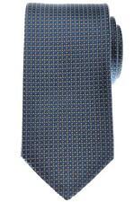 Gucci Tie Silk Woven 57 1/4 x 3 1/4 Blue Brown Geometric 19TI0142 $200