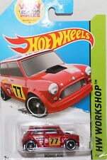 Hotwheels USA only  RED rally  mini cooper S, Long card VHTF