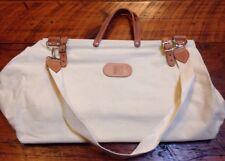 Vtg Micato Safaris Cotton Canvas Leather Handle Shoulder Oversize Tote Bag USA