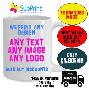 72 X Company Branded Business Promo Promotial Printed Custom Coffee LOGO Mug,