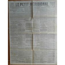 Le PETIT MÉRIDIONAL KARL Ier et Wilson Cette Frontignan Mèze Lodève 28 Oct. 1918