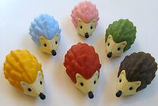 Iwako Japanese Erasers Set of 6 Hedgehogs