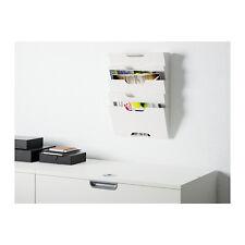 IKEA KVISSLE Metal Wall Newspaper Rack Book Magazine File Paper Holder in White