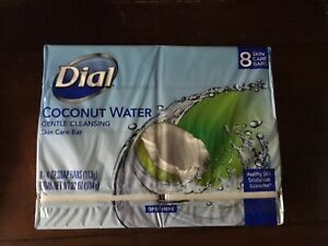 Dial Coconut Water 8 Count Gentle Cleansing Skin Care Bars 4 Oz Each