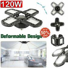 2PCS 192 LED Deformable Garage lights 12000LM Workshop Ceiling Lamp E27 E26 120W