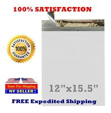 "200 12X15.5 White Poly Mailer Self Sealing Shipping Envelopes Bags 12""X15.5"" #5"