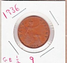 1936 Great Britain Half Cent ~ YOU GRADE IT .   stk 9