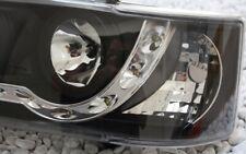 KLARGLAS SCHEINWERFER SET VW T4 LED TAGFAHRLICHT TFL LOOK BLACK SCHWARZ 90-96 JU