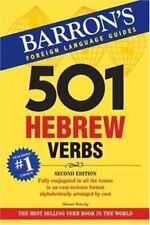501 Verb: 501 Hebrew Verbs by Shmuel Bolozky (2007, Paperback, Revised)