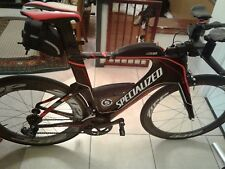 specialized shiv pro di2 trialthon bike with 404f and 808b zipp 11 spped