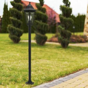 LED Außen Steh Leuchte Laterne Garten Strahler Stand Lampe Smart RGB ALU SCHWARZ