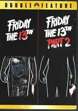 Friday the 13th & Part Two Ii (Dvd, double feature) Horror Slasher Classics