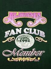 Vintage Alabama Fan Club 1994 Member Green Xl T Shirt Country Music Juke Box