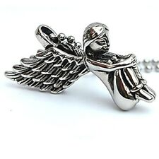 Cute Style Necklace Unisex Punk Style Stainless Steel Angel Pendants