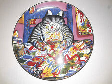 Artist Cat Vintage Kliban Cat Plate Danbury Mint A3886