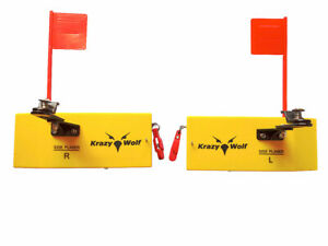 """Pair of Planer Board With Spring Flag system,Left&Right,Medium Size,L8""""xW3"""""""