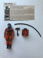 GI Joe 1985 Barbecue v1 Fire Fighter Hasbro Action Figure