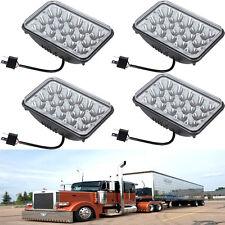 4PCS 45W LED Headlights Sealed Hi Low Beam HID Bulb For Peterbilt 378 357 379