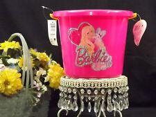 BARBIE Easter Plastic Bucket NWT + BONUS 1 Package Easter Grass & Eggs E 49