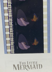 Disney LITTLE MERMAID Authentic Animation Film 5-Cells Strip FLOUNDER AND SHARK