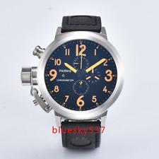 50mm PARNIS Big Face black dial Datum Quarz uhr Voller Chronograph mens watch