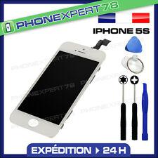 VITRE TACTILE IPHONE 5S BLANC + ECRAN LCD SUR CHASSIS + OUTILS + NOTICE