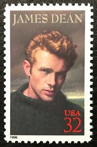 1996 Scott #3082 - 32¢ James Dean - Legends of Hollywood - Single Stamp - MNH