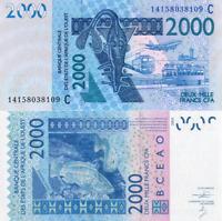 WEST AFRICAN STATES, BURKINA FASO, 2000 Francs, 2014, Code C, P316cn, UNC