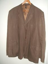 """*Made in Italy* tobacco brown pure linen men's suit - 44"""" chest, 34"""" trousers"""