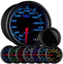 GlowShift Tinted 7 Color 200 PSI Air Pressure Gauge Air Suspension Air Ride