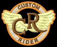 Custom Rider ecusson brodé patche Thermocollant iron-on patch