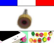 Cache anti-poussière jack universel iphone protection capuchon bouchon FRUIT 1
